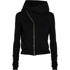 DRKSHDW by Rick Owens Hooded cotton jacket ($185) ❤ liked on Polyvore