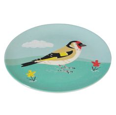 Melamine Plate Goldfinch