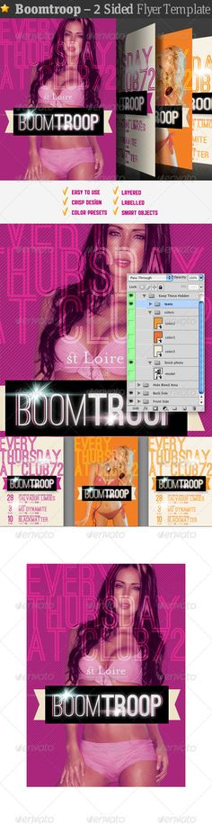Boomtroop  Flyer Template — Photoshop PSD #night club #flyer • Available here → https://graphicriver.net/item/boomtroop-flyer-template/677093?ref=pxcr