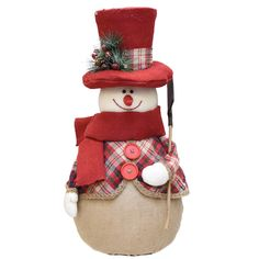 Felices Pascuas Collection inch Red and Brown Plaid Snowman with Shovel Scarf and Top Hat Table Top Christmas Figure Silver Christmas Decorations, Snowman Decorations, Burlap Christmas, Christmas Centerpieces, Diy Christmas Ornaments, Christmas Snowman, Christmas Stockings, Holiday Decor, Cute Snowman