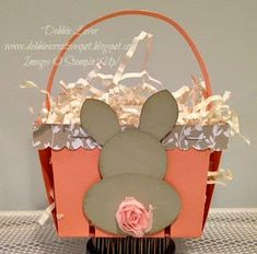 Here is a sweet Easter basket I made using the Berry Basket Die. These baskets are super easy to put together! I made my bunny using thre. K Crafts, Easter Crafts, Bunny Party, Berry Baskets, Hand Stamped Cards, Easter Candy, Cool Cards, Easter Baskets, Stampin Up Cards