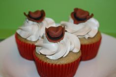 cowboy hat cupcake toppers