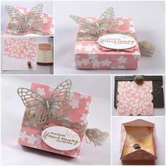 Envelope Punch Board Box für Mini-Pralinen – mit Anleitung