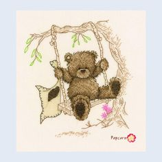 On The Rope Swing - Popcorn - counted cross stitch kit