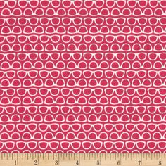 Riley Blake Designer Novelty Glasses Pink from @fabricdotcom  Designed by the Riley Blake Designers for Riley Blake, this cotton print is perfect for Quilting, Apparel, and Home Decor accents. Colors include hot pink and white.