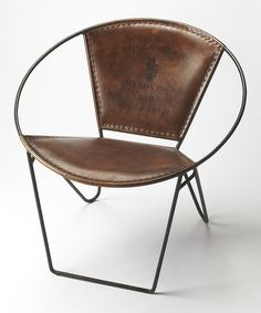 Love this Contemporary Orb Leather Accent Chair by Butler Specialty Company on #zulily! #zulilyfinds