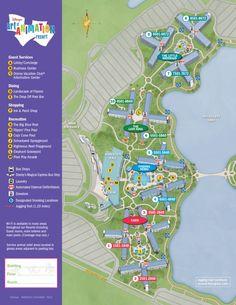 art of animation resort map walt disney world d i s n e y