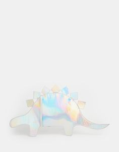 Buy THEWHITEPEPPER Dinosaur Clutch in Holographic at ASOS. Get the latest trends with ASOS now. Novelty Bags, Space Grunge, Babe, Cute Bags, Purses And Bags, Rainbow, Fun Loving, Clothing, Futuristic