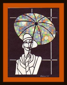 art deco stained glass lady #1 | Flickr - Photo Sharing!