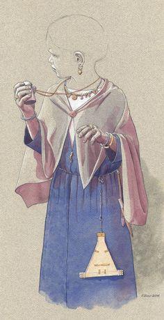 Pigen fra Frankfurter Dom, Merovingertid ca 700 e.Kr – Das Mädchen vom Frankfurter Dom, Grab der späten Merowingerzeit – The girl from Frankfurt Cathedral, Merovingian time