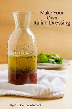 Italian Dressing Make your own homemade dressing mix