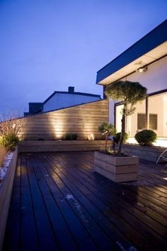 Lighting on roof terrace