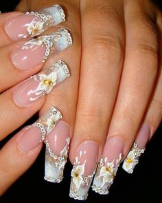 Nail art is one of those fashions women can't get over it anyway. Check out Best Acrylic Nail Art Designs, Ideas ,Trends, Stickers & Wraps 3d Nail Designs, Nail Designs Pictures, Colorful Nail Designs, Colourful Nail, Floral Designs, Nails Design, Best Acrylic Nails, Acrylic Nail Art, 3d Nails Art