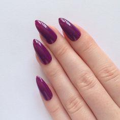 Purple Stiletto nails Nail designs Nail art by prettylittlepolish, £10.99/$18.34