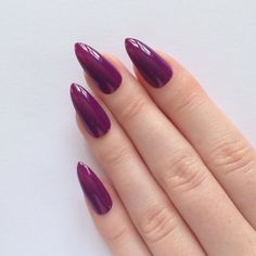 Purple Stiletto nails N