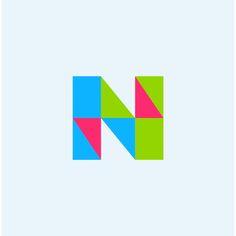 etterforms - monogram - logo - letter - N Letter N, Letter Logo, Font Logo, Create Website, Monogram Logo, Inline, Simple Lines, Logo Inspiration, Alphabet