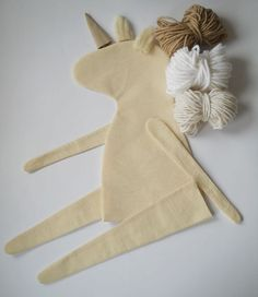 DIY Blank Doll Unicorn UNSTUFFED BODY for by MadeByMiculinko