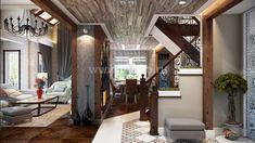 Дизайн интерьеров дома по проекту JAAKKO 187 Entry Foyer, Oversized Mirror, Cottage, Curtains, Interior Design, Furniture, Home Decor, Entrance Hall, Nest Design