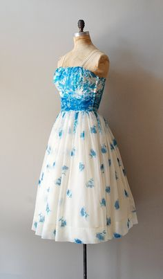 vintage 1950s Blue Grotto chiffon dress