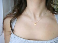 Tiny Gold Hamsa Necklace - $28.92