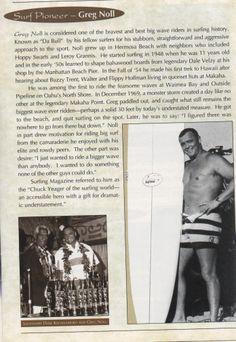 Greg Noll Surf Idol.