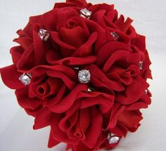 Red Silk Rose Toss Bouquet with Bouquet Jewelry - Wedding Bouquet by The Brides Bouquet.com, http://www.amazon.com/dp/B004LOC7A2/ref=cm_sw_r_pi_dp_lo9trb1QTPRFY