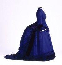 1870-75 Formal dress, worn by Adele Andrée, Stuttgart, Wurttemberg State Museum