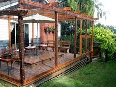Image result for outdoor cat enclosures connected to house