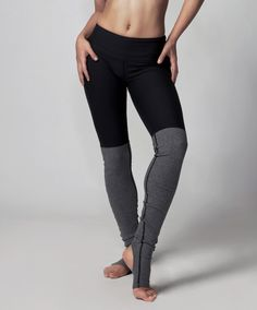Barre Legging from Prima Studio. Simulate the look of leg warmers, without the heat.