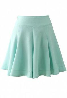 Premium High-Rise Mint Skirt