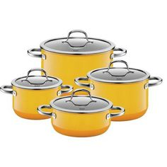 WMF Silit Passion Non-Stick Stainless Steel 4 Piece Cookware Set Color: