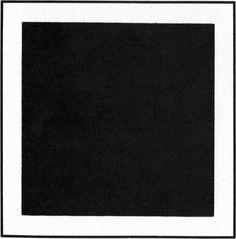Malewich. Cuadrado negro sobre fondo blanco. Esta obra no posee una forma compleja y coherente. Tampoco tiene un significado complejo