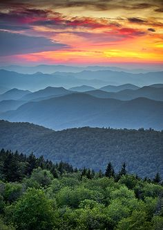 Cowee Mountains Overlook in the Blue Ridge Mountains of Western North Carolina. America can be just as beautiful as any other country If you get out of that building and look for it.