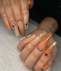 How to choose your fake nails? - My Nails Aycrlic Nails, Dope Nails, Coffin Nails, Fall Nail Art Designs, Acrylic Nail Designs, Gorgeous Nails, Pretty Nails, Perfect Nails, Fall Acrylic Nails
