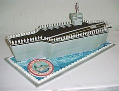USS Roosevelt aircraft carrier By sweetcakes on CakeCentral.com