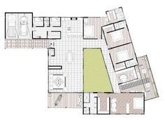 Resultado de imagen de planos casas con patio central