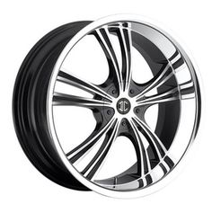 2 Crave SF-1™ Wheels - No 2 Black/Machined w/ Chrome Lip