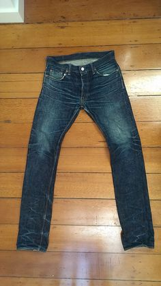 The Strike Gold denim 1109. 1 year, 1 initial soak, 2 washes, about 10 months of wear