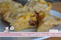 Mac and Cheese Pot Pie Recipe   (skip the hotdog and use broccoli).