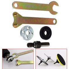 10mm Shank Arbor Mandrel Drill Angle Adaptor for Grinder Cut Off Wheels Disc