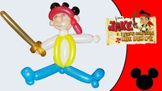 Video tutorial on how to make Jake and the Never Land Pirates with balloons twisting #Jake #pirate #piratejake