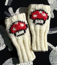 Vickie Howell | Blog: PROJECT: Mario Mushroom Wrist Warmers!