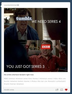 We spend more time on hiatus then we do with the actual show... Here's to two more years of tumblr theories and the best GIF's on the internet. :)
