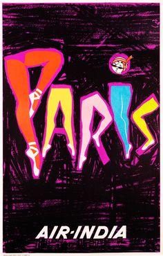 Artist Unknown Poster: Paris - Air India