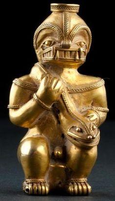 Figurilla precolombina que representa a ser reptiliano  Leer más: http://el-libertario.webnode.es/nuestros-antiguos-instructores/