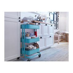 The Raskog Utility Cart ($29.99, ikea.com) is compact, versatile, affordable, and adorbs. This sucker works in every room in the house: bedroom (nightstand!), kitchen, studio, office, nursery, bathroom -- it's a workhorse that provides stylish portable storage.