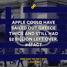 Apple could have bailed out Greece twice and still had $2 billion left over.
