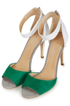 These would add the perfect pop of emerald to your wedding attire; Topshop