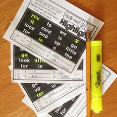 sight words, labels,