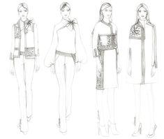 Zorana Kozomara Designs Fashion Illustration Tutorial, Fashion Illustration Sketches, Fashion Sketches, Fashion Sketch Template, Fashion Design Template, Fashion Figure Drawing, Fashion Drawing Dresses, Fashion Design Sketchbook, Fashion Design Drawings